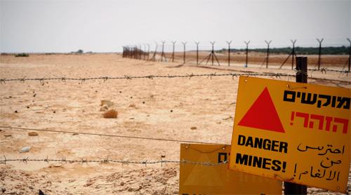 מוקשים חשופים לעין עקב שטפונות בבקעת הירדן